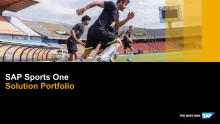 Overblik over SAP Sports One løsningen