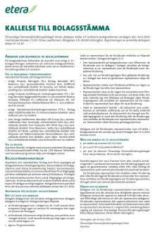 Kallelse till bolagsstämma, pdf