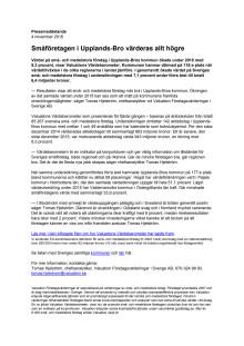 Värdebarometern 2015 Upplands-Bros kommun