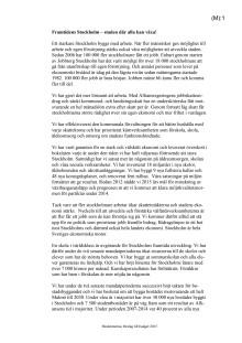 Budgetförslag 2015 - Moderaterna i Stockholms stad