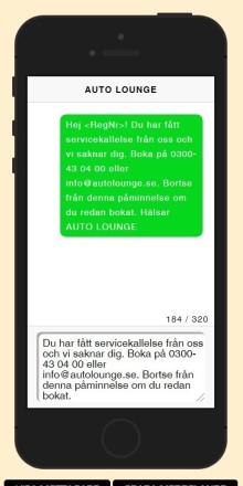 Midman Update: Nu smartare text i SMS-påminnelser