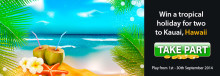 Win a trip for two to Kauai, Hawaii courtesy of LuckyWinSlots.com this September