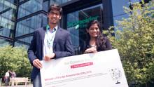 Svenskt lag bland de 100 bästa i världen i Schneider Electrics studenttävling Go Green in the City