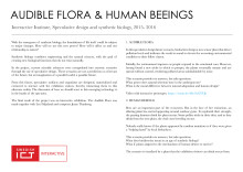 Biosynthetic possessions, Audible Flora och Human Beeings - Arbetsprover av Linnea Våglund