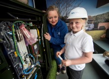 Benarty pupils get a lesson with fibre broadband