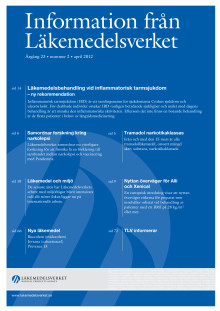 Information från Läkemedelsverket #2 2012