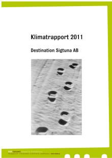Klimatrapport Destination Sigtuna AB