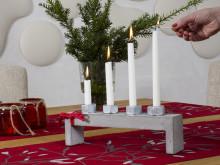 Klassisk lysestake i betong – Inspirert