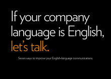 Our English content presentation: If your company language is English, let's talk.