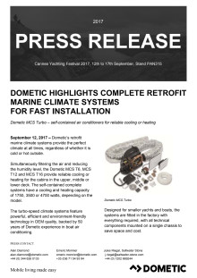 Dometic Highlights Complete Retrofit Marine Climate Systems  for Fast Installation