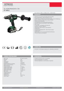60010732 - Hitachi slagbormaskin DV18DBL2