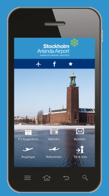 Gate and boarding time now in Swedavia´s airport app