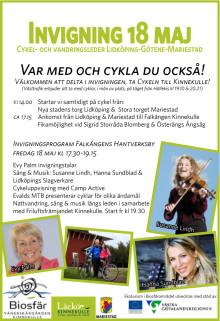 Invigning Biosfärslederna Falkängen Kinnekulle 18 maj! Cykla till Kinnekulle