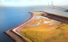 Ny klimasikring skal beskytte Storebæltsbroen mod de stigende vandstande