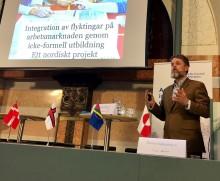 Studieförbunden talar för Nordiska ministerrådet om hur folkbildningen kan bidra i etableringen