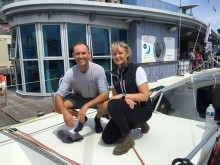 Pip Hare and Paul Larsen team up for Fastnet Race