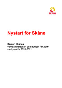 Budget 2019: Nystart för Skåne