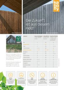 Kebony: Übersicht Fassadenprodukte - Holzfassaden