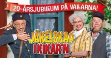 """Världspremiär för nya jubileumsfarsen """"Jäkelskap i Kikar´n"""" söndag den 3 juli på Vallarnas friluftsteater!"""