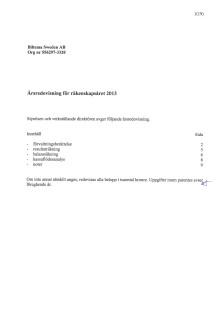 Årsredovisning och koncernredovisning 2013