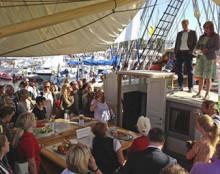 Almedalen 2016 - Några lediga tider ombord i Tre Kronor af Stockholm
