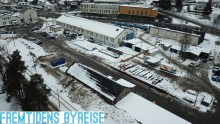 Fremtidens byreise  til Holtet - buss for trikk på Ekebergbanen i påsken