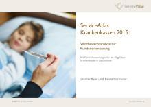 Studienflyer und Bestellformular ServiceAtlas Krankenkassen 2015