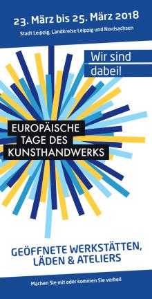 Flyer zu den Europäischen Tagen des Kunsthandwerks