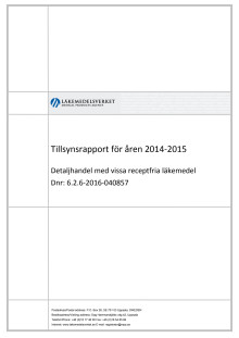 Tillsynsrapport för åren 2014-2015
