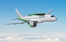 Først i verden med skiboks på fly - Widerøe har fått utviklet skibokser for selskapets nye regionale jetfly