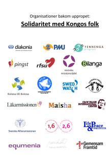 """Organisationerna bakom """"Solidaritet med Kongos folk"""""""