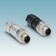 M12 connector with connection technology for all applications
