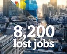 8 200 svenska jobb riskeras - var av 2 100 i Stockholm