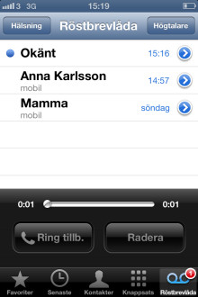 3 först i Sverige med Apple Visual Voicemail