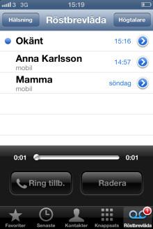 3 först i Sverige med Apple Visual Voicemail