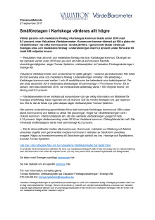 Värdebarometern 2017 Karlskogas kommun