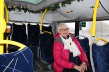 Julstämning i Skövdes kollektivtrafik