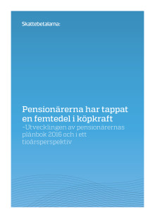 Pensionärerna har tappat en femtedel i köpkraft 2016