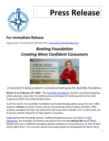 Boating Foundation Creating More Confident Consumers