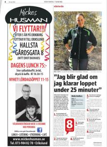 Västerås Tidning skriver om Malin Hedfors och #TeamVästerås inför Vår Ruset 22 maj