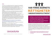 Var finns barnets rättigheter i migrationspolitiken?