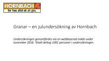 Hornbachs julgransundersökning 2016