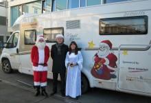 Der Weihnachtsmann der Dethleffs Family Stiftung ist wieder auf Tour