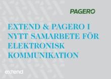 Extend & Pagero i nytt samarbete för elektronisk kommunikation.