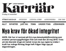 Tidningen Karriär skriver om Kivras arbete med GDPR