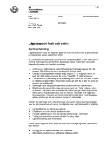 SL: Lägesrapport fusk och svinn 2010-09-21