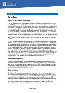 Fact Sheet Thrombose