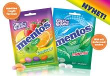 Nya smaker i nytt format, mentos i påse!