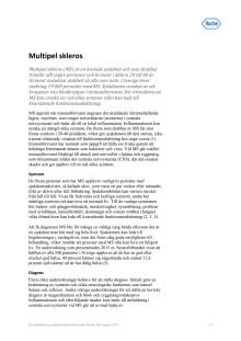 Faktablad – multipel skleros (MS)