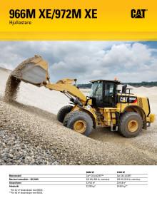 Produktbroschyr: Cat 966M XE & Cat 972M XE hybridhjullastare